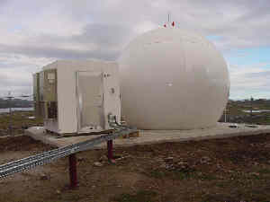 Iqaluit Site TT&C Ka-band 29.5 GHz 18-ft. (5.5m) diameter radome for Loral Space and Telesat Canada.